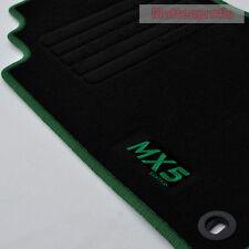 MP Velours Logo Fußmatten für Mazda MX-5 MX5 II NB ab Bj.03/1998 - 2005 grün