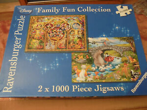 Ravensburger Disney Family Fun Collection Jigsaw 2 x 1000 piece -1 piece missing
