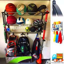 Sport Organizer Hang Kid Helmet Basket Ball Racket Bag Garage Wall Storage Rack