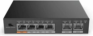 Dahua Technology DH-PFS3006-4ET-60 4-Port Fast Gigabit Ethernet PoE+ Switch