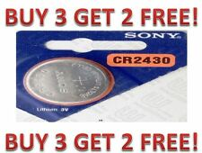 CR 2430 SONY LITHIUM BATTERIES (1 piece) 3V Watch New Exp:2025 BUY 3 GET 2 FREE!