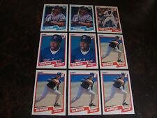 1990 Fleer Baseball---Box Bottom Cards---Lot Of 9---Dupes---Stars Only