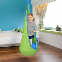 Child Pod Swing Chair Tent Nook Indoor Outdoor Hanging Seat Hammock Kids Green
