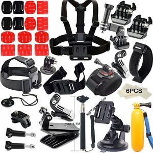 Sport Camera Floating Hand Grip Head Helmet Ches Starp Kit for Sony GoPro Hero 9