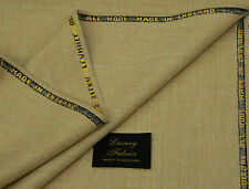 S.SELKA VINTAGE ALL WOOL FLANNEL VANILLA/SAND SUITING FABRIC MADE IN ENGLAND3.5M