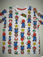 Boys official white Nintendo Super Mario Bros. t-shirt ages 3 through to 13 BNWT