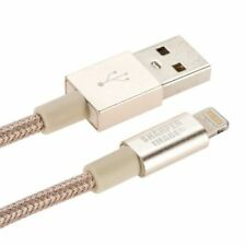1X Sharper Image 6-Foot Power & Sync Cable  Lightning to USB Cable for gold plte