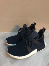 Adidas NMD XR1 PK Mens Collegiate Navy Primeknit Running Shoes Size 7.5