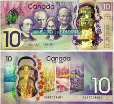 CANADA 2017 LIMITED EDITION POLYMER HOLO PREFIX CDB $10 DOLLAR NEW BANKNOTE UNC