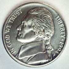 1994 P Jefferson Matte Finish BU Nickel Five Cent Coin Philadelphia Minted 5c US