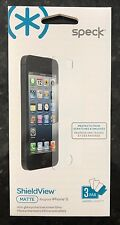 New Speck ShieldView iPhone 5 Screen Protector 3 Pack Matte
