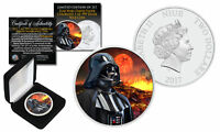 2017 Niue 1 oz Pure Silver BU Star Wars DARTH VADER Coin with MUSTAFAR Backdrop