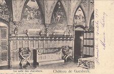 BELGIQUE BELGIUM GAESBEEK château la salle des chevaliers timbre belge