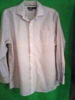 9366) LAUREN RALPH LAUREN  17.5 34/35 men's pink stripe Slim Fit dress shirt 17