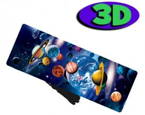 Space Planets Moving 3D Hologram Bookmark With Tassel Book Place Holder 15X5 CM