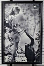 Jane Goodall Apple Think Different 11x17 Poster Framed VGC vintage