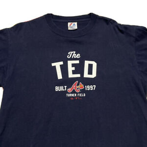 Majestic Atlanta Braves The Ted Built 1997 Turner Field T Shirt Men's Large MLB