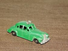 """VINTAGE TOY 2 1/2"""" LONG BUDGIE MODELS ENGLAND NO. 5 METAL GREEN POLICE CAR"""