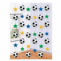 6 Football Soccer Hanging 7ft Party String Decorations sports