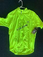 CANARI Optic Nova Killer Yellow Cycling Jersey Full Zip Shirt XXL Men NEW TAGS