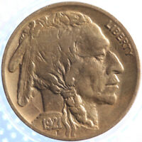 1921 P BUFFALO NICKEL, ALMOST UNC, TOUGH EARLY DATE, ORIGINAL, PROBLEM FREE!