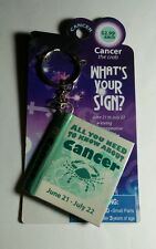 CANCER CRAB WHAT'S YOUR SIGN ASTROLOGY BIRTHDAY KEYCHAIN KEY CHAIN BOOK AS-IS