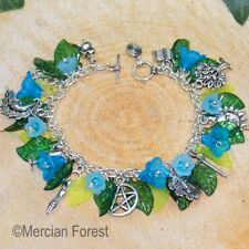 Wiccan Charm Bracelet - Bluebell- Pagan Jewellery, Wiccan, Witch, Pagan Bracelet