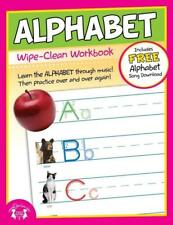 NEW 10pg Wipe-Clean Alphabet Reusable Workbook Preschool Kindergarten Classroom