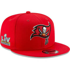 Tampa Bay Buccaneers Hat New Era 9Fifty Snapback Cap Red Super Bowl Champs