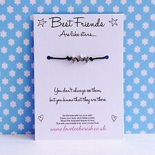 Best Friends Are Like Stars - Star Charms - Wish / Friendship BFF Bracelet Gift