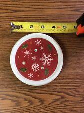 """Longaberger Christmas Trivet/Candle Holder 4 1/2"""""""