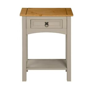 Corona Grey Wax 1 Drawer Console Table - Mexican Solid Pine
