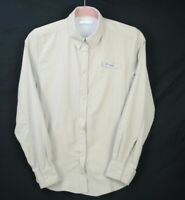 COLUMBIA PFG Womens Vented Shirt Size XS Beige Long Sleeve Omni Shade