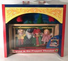Melissa & Doug Fold & Go Puppet Theater Classic Wooden Toy 4 Puppets Sealed New