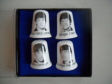 SET OF THE BEATLES BONE CHINA  THIMBLES COMPLETE WITH DISPLAY BOX IDEAL GIFT