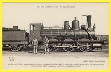 """cpa LOCOMOTIVE à Vapeur """" MORIN """" des CHEMINS de FER de l' Est CHEMINOTS Railway"""
