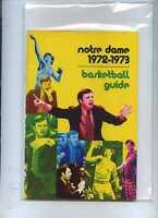 1972/73 Notre Dame Basketball Media Guide MBX18