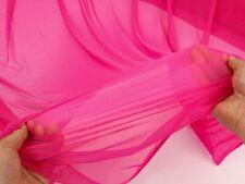 Hot Pink - Superthin 4 Way Stretch Nylon Spandex Mesh Fabric Underwear BY YARD