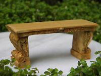 Miniature Dollhouse FAIRY GARDEN Furniture ~ Aged Resin Bench ~ NEW