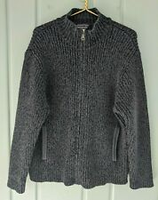 Patagonia Mens Cardigan Sweater Jacket 100% Wool Thick Heavy Chunky Full Zip