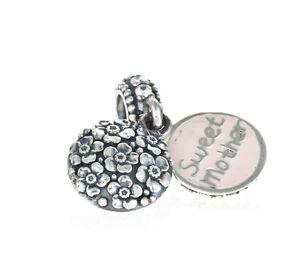 Genuine Pandora Silver Sweet Mother, CZ & Pink Enamel Charm 791285CZ
