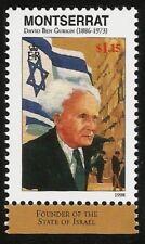 DAVID BEN GURION FOUNDER OF ISRAEL BRITISH MONTSERRAT MINT MNH STAMP JUDAICA