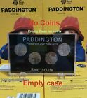 Paddington Bear 50p Display Case for All 4 Coins CATHEDRAL TOWER STATION PALACE