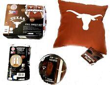 Texas Longhorns Full size sheet set pillow window panel hamper 7pcset UT bedding