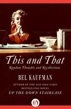 This and That: Random Thoughts and Recollections (Paperback or Softback)