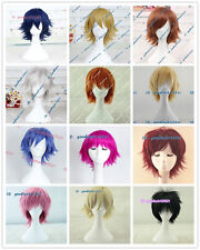 Xmas Gift Fashion Straight fluffy Short Full Wigs Cosplay Wigs Christmas Party