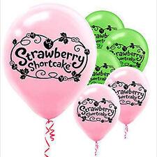 STRAWBERRY SHORTCAKE Dolls LATEX BALLOONS (6) ~ Birthday Party Supplies Helium