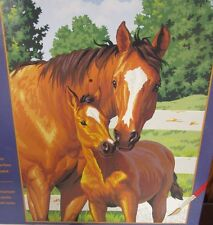 Dimensions Paintworks Paint By Number Kit Horse and Colt 91100