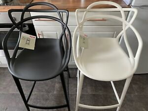 Brand New Genuine Black and White Kartell Masters Bar Stools- RRP £296 each