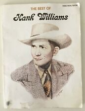 The Best of Hank Williams Piano Vocal Guitar Sheet Music Book